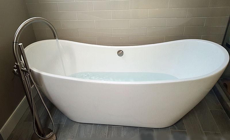 freestanding tub faucet connection
