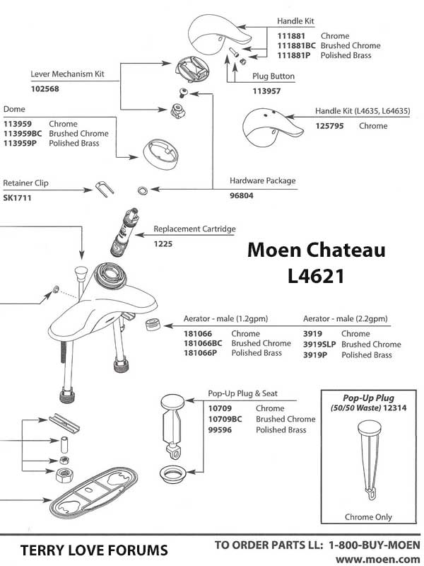 moen l4621 odd leaking bathroom tap