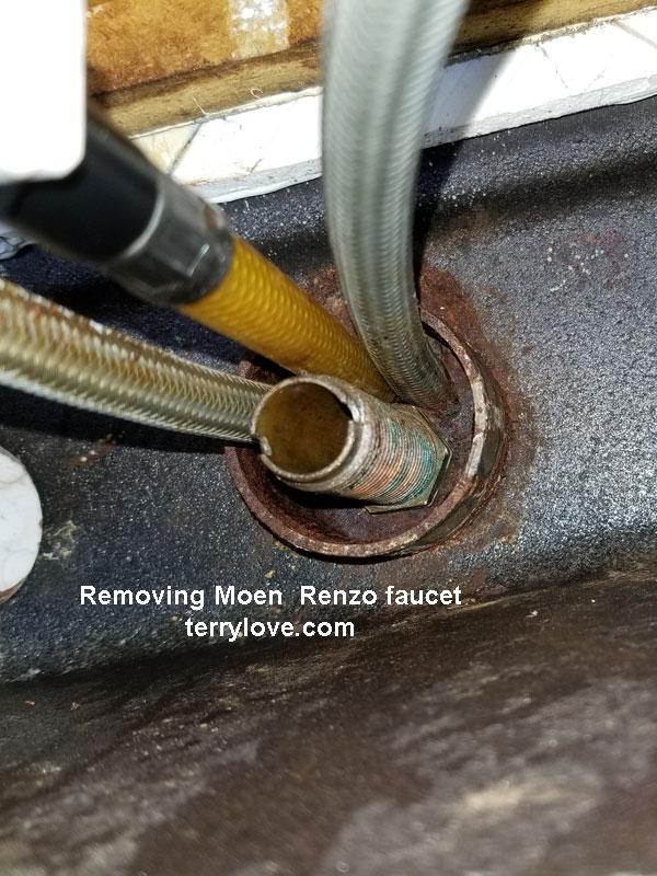 replacing installing moen renzo kitchen