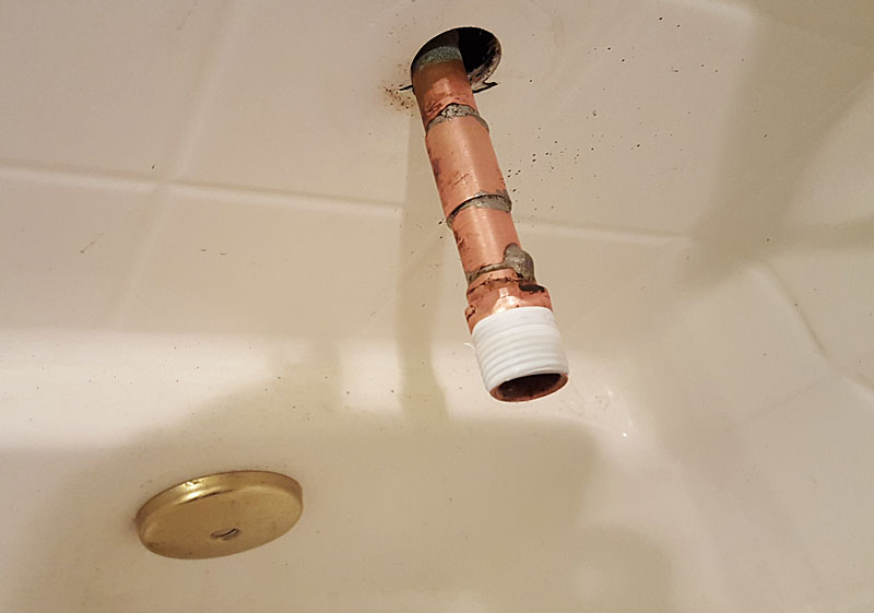 Copper Pipe Too Short For Tub Spout Terry Love Plumbing