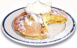 Bob Evans Cinnamon Cream Stacked & Stuffed Hotcakes.