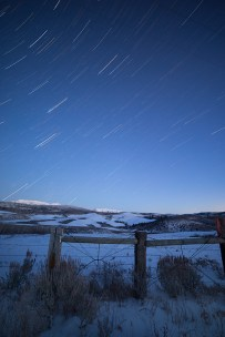 Starry Winter's night in Arbon Valley. © Terry Ownby. Nikon D800 Rokinon 14mm/f2.8