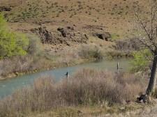Alex and Miranda fishing the Owyhee River, Oregon