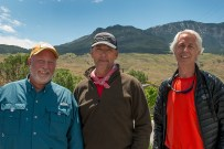 Left to Right: Terry Ownby, Tom Mitchell, Robert Breshears in Gardiner, Montana.