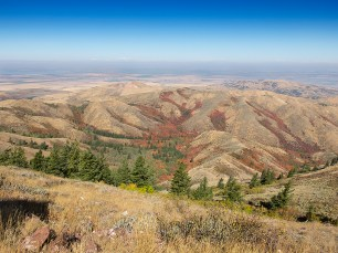 Northwest from Kinport Peak, Idaho.