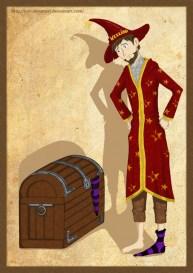 http://kuroikoumori.deviantart.com/art/Rincewind-and-the-Luggage-161132888