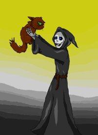 http://ciajka.deviantart.com/art/Death-and-the-cat-164793408