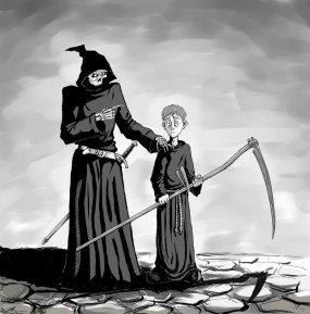 http://flick-the-thief.deviantart.com/art/Mort-and-Death-139025958