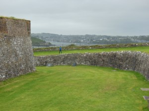 Leaving the fort, looking toward Kinsale again