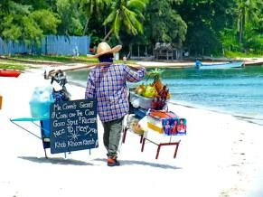 Mr. Coppi, a long time favourite beach vendor at Choeng Mon Beach