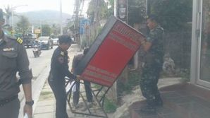 Clean up on streets, removal of signage.