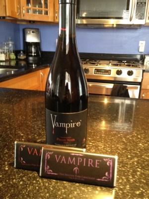 vampire wine, vampire chocolate, vampire food