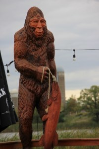 Bigfoot fishing