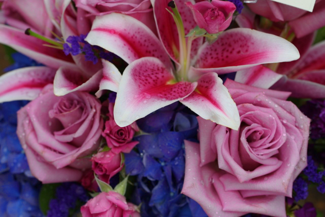 Mother's Day roses and lilies