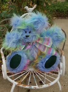 Blue Rainbow Bear Cleo