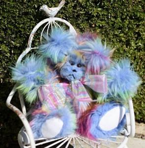 Rainbow bears, blue  (630x640)