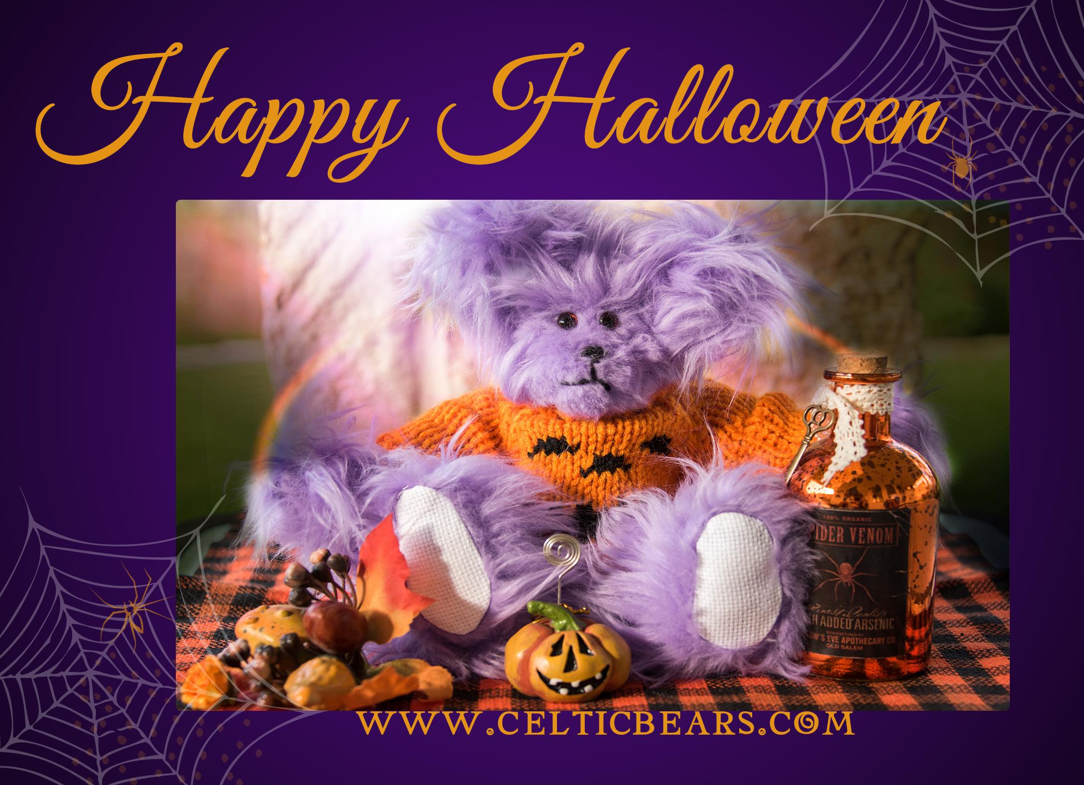 LS Happy Halloween 5x7 Marketing Template lilac bear2