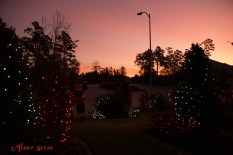 Neighbor's Christmas lights and sunrise 900 017
