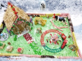 top view of gingerbread house2