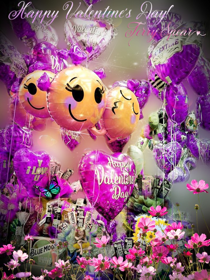 Happy Val;entines balloons purple3