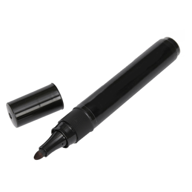 a black marker pen with the lid off