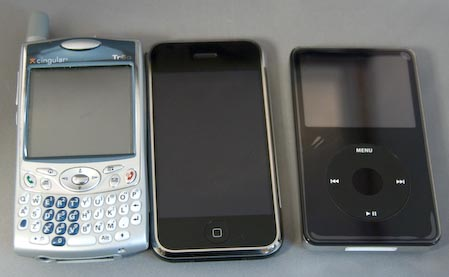 Palm Treo 650, iPhone and iPod 80GB