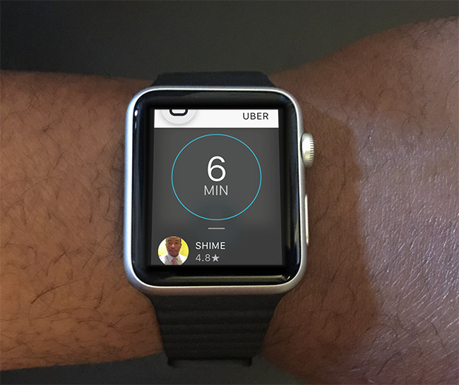 Uber on Apple Watch