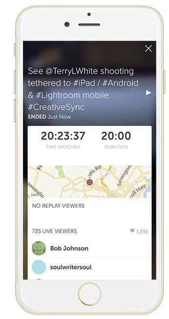 Periscope on iPhone 6 Plus