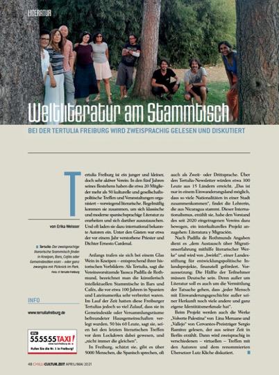 """Artikel in """"Chilli Magazine Freiburg"""""""