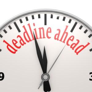 Deadline ahead clock