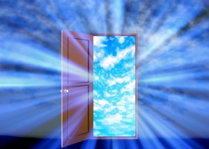 ドアの開けると青空