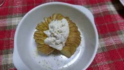 ハッセルバックのクリームチーズのせ