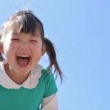 女の子の笑顔