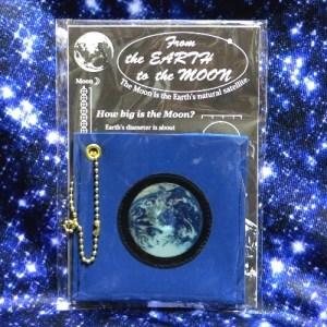 レンチキュラー地球と満月のミラーケース