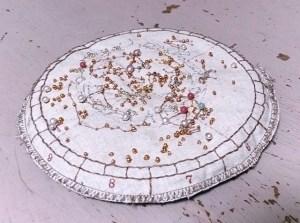 ビーズ刺繍の星座早見盤2014中身_天文クラフトsoragurumi