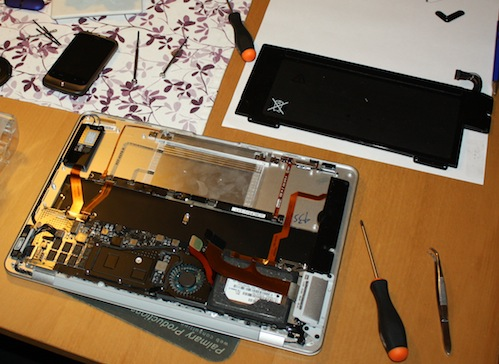 Dismantled MacBook Air