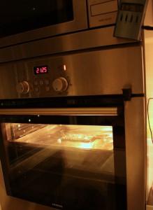 MacBook Air logic board in the oven