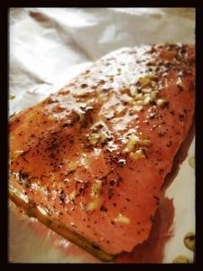 Foiled salmon