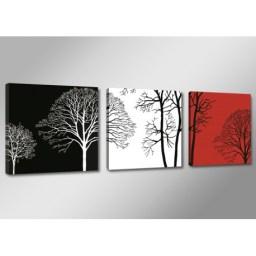 cuadro-arboles-blanco-negro-y-rojo-150-cm-x-50-cm