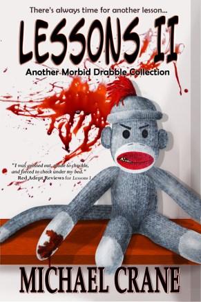 Original digital vector artwork (sockmonkey) done in Illustrator, stock photo of bloodstain, everything else digitally handpainted by me, typography
