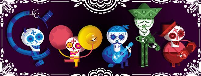 Doodle di Google 2012 - Dia de Muertos - Day of the dead