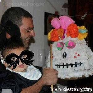 pignata sugar skull con busta di carta
