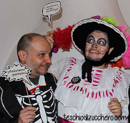 photo booth con frasi dia de muertos