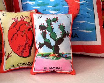 loteria-mexicana-cuscino