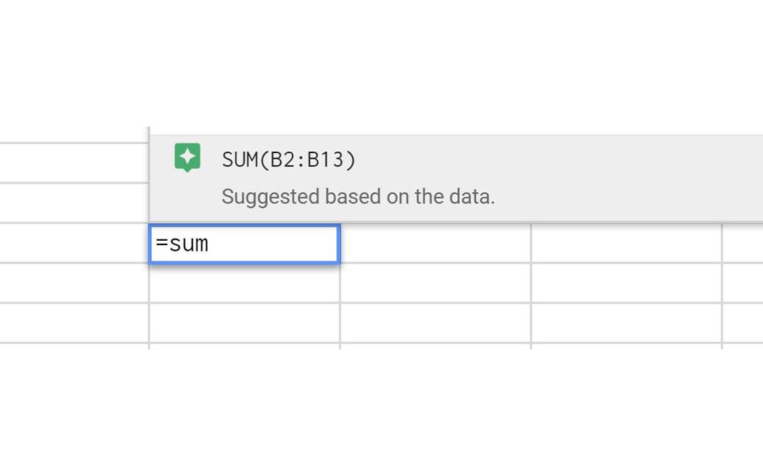 Autocompletar fórmula en Google Sheets