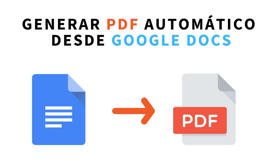 Compartir versión PDF de tu documento de Google Docs