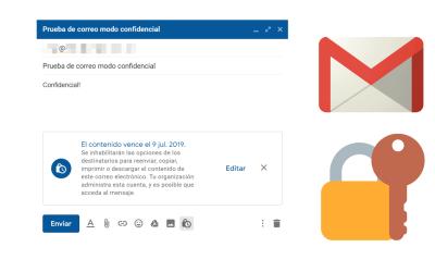 Enviar correos protegidos que expiran con el modo confidencial de Gmail