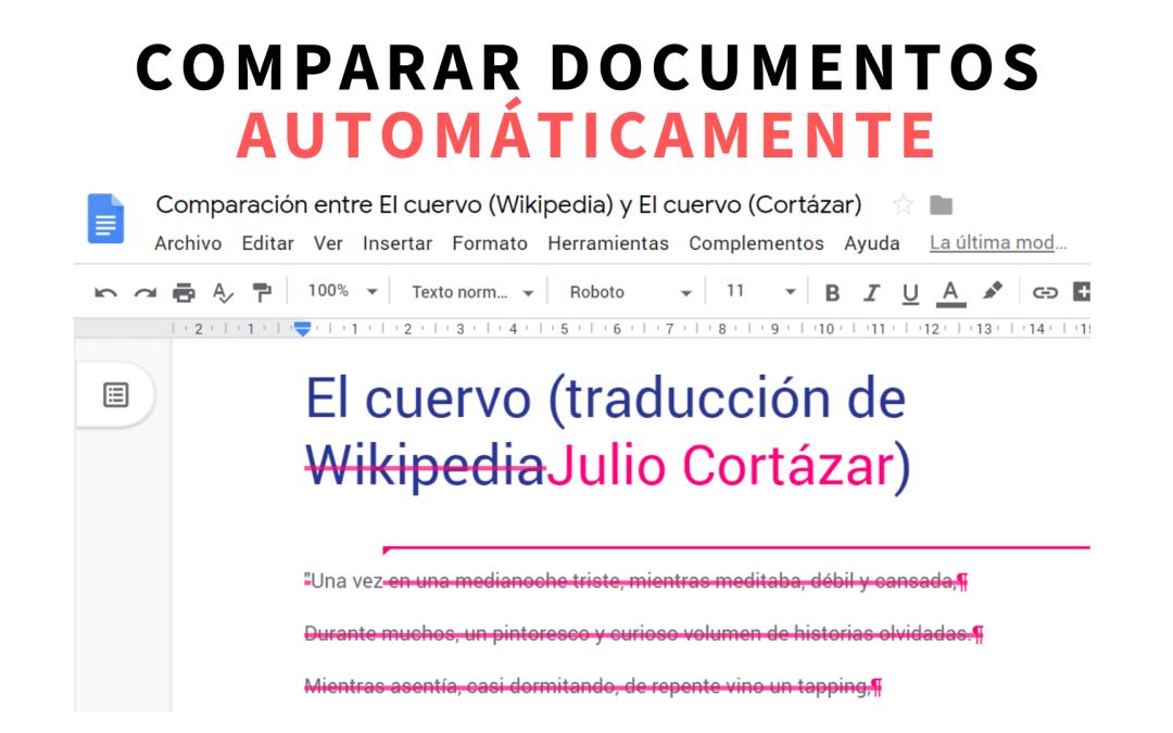 Comparar documentos automaticamente con Google Docs