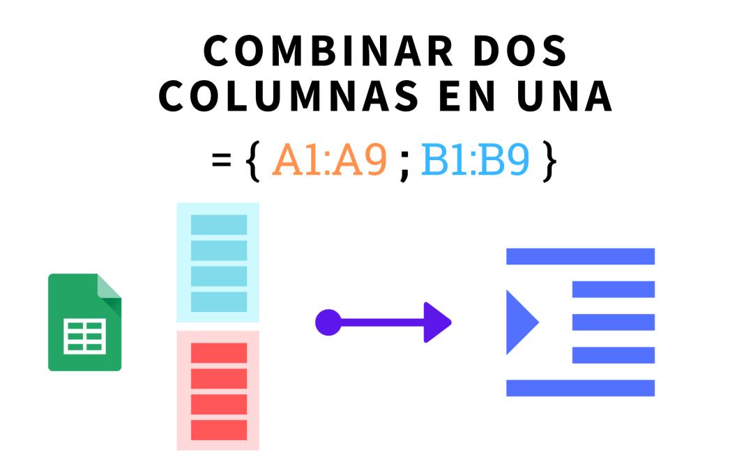 Cómo convertir dos columnas en una sola en Google Sheets