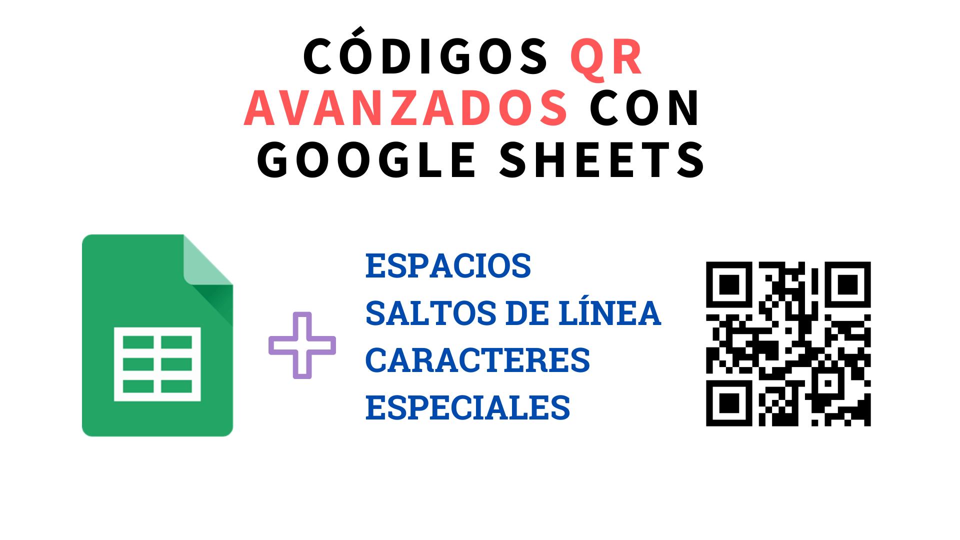 Codificar espacios y saltos de línea en códigos QR con Google Sheets (Hojas de cálculo de Google)